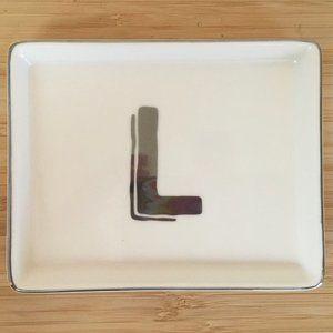 """""""L"""" Initial Trinket Dish"""